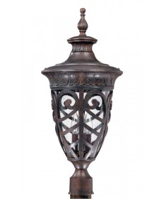 Nuvo Lighting 60/2060 Aston 3 Light Large Post Lantern with Seeded Glass