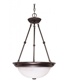 Nuvo Lighting 60/211 3 Light 15 inch Pendant Alabaster Glass
