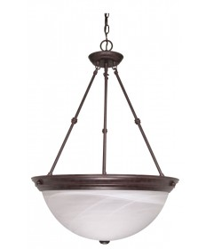 Nuvo Lighting 60/212 3 Light 20 inch Pendant Alabaster Glass
