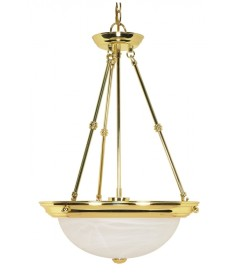 Nuvo Lighting 60/219 3 Light 15 inch Pendant Alabaster Glass