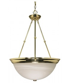 Nuvo Lighting 60/220 3 Light 20 inch Pendant Alabaster Glass
