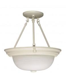 Nuvo Lighting 60/225 2 Light 13 inch Semi-Flush Alabaster Glass