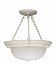 Nuvo Lighting 60/226 3 Light 15 inch Semi-Flush Alabaster Glass