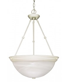 Nuvo Lighting 60/228 3 Light 20 inch Pendant Alabaster Glass