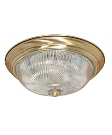 Nuvo Lighting 60/231 3 Light 15 inch Flush Mount Clear Swirl Glass
