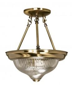 Nuvo Lighting 60/232 2 Light 11 inch Semi-Flush Clear Swirl Glass