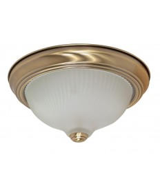 Nuvo Lighting 60/237 2 Light 11 inch Flush Mount Frosted Swirl Glass