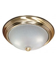Nuvo Lighting 60/238 2 Light 13 inch Flush Mount Frosted Swirl Glass