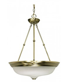 Nuvo Lighting 60/244 3 Light 20 inch Pendant Frosted Swirl Glass