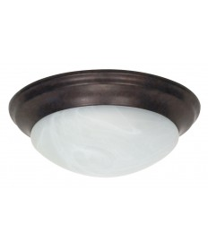 Nuvo Lighting 60/281 2 Light 14 inch Flush Mount Twist & Lock with Alabaster Glass