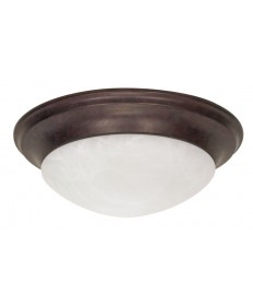 Nuvo Lighting 60/282 3 Light 17 inch Flush Mount Twist & Lock with Alabaster Glass