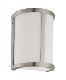 Nuvo Lighting 60/2868 Odeon 1 Light Wall Sconce with Satin White Glass