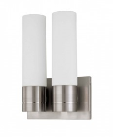 Nuvo Lighting 60/2938 Link 2 Light (Twin)Tube Wall Sconce with White Glass