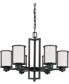 Nuvo Lighting 60/2975 Odeon 6 Light (convertible up/down) Chandelier