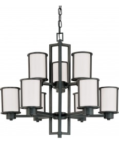 Nuvo Lighting 60/2979 Odeon 6 + 3 Light Chandelier with Satin White