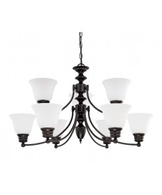 Nuvo 60/3171 Empire 9 Light 32 inch Chandelier Frosted White