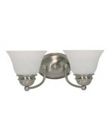 Nuvo Lighting 60/3205 Empire ES 2 Light 15 inch Vanity with Alabaster Glass (2) 13w GU24 Lamps Included
