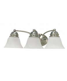 Nuvo Lighting 60/3206 Empire ES 3 Light 21 inch Vanity with Alabaster Glass (3) 13w GU24 Lamps Included