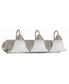 Nuvo Lighting 60/321 Ballerina 3 Light 24 inch Vanity with Alabaster Glass Bell Shades
