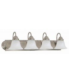 Nuvo Lighting 60/322 Ballerina 4 Light 30 inch Vanity with Alabaster Glass Bell Shades