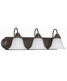 Nuvo Lighting 60/325 Ballerina 3 Light 24 inch Vanity with Alabaster Glass Bell Shades