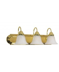 Nuvo Lighting 60/329 Ballerina 3 Light 24 inch Vanity with Alabaster Glass Bell Shades