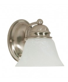 Nuvo Lighting 60/340 Empire 1 Light 7 inch Vanity with Alabaster Glass Bell Shades