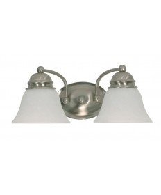 Nuvo Lighting 60/341 Empire 2 Light 15 inch Vanity with Alabaster Glass Bell Shades