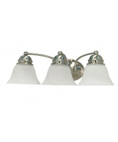Nuvo Lighting 60/342 Empire 3 Light 21 inch Vanity with Alabaster Glass Bell Shades