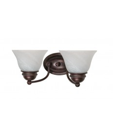 Nuvo Lighting 60/345 Empire 2 Light 15 inch Vanity with Alabaster Glass Bell Shades