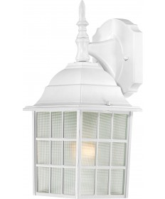 "Nuvo Lighting 60/3480 Adams 1 Light 14"" Outdoor Wall with Frosted"