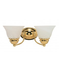 Nuvo Lighting 60/349 Empire 2 Light 15 inch Vanity with Alabaster Glass Bell Shades