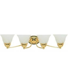 Nuvo Lighting 60/351 Empire 4 Light 29 inch Vanity with Alabaster Glass Bell Shades