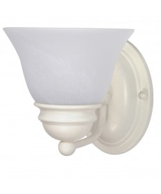 Nuvo Lighting 60/352 Empire 1 Light 7 inch Vanity with Alabaster Glass Bell Shades