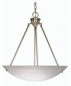 Nuvo Lighting 60/370 3 Light 23 inch Pendant Alabaster Glass Bowl
