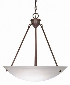 Nuvo Lighting 60/371 3 Light 23 inch Pendant Alabaster Glass Bowl