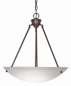 Nuvo Lighting 60/371 3 Light 23 inch Pendant Alabaster Glass Bowl