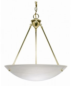 Nuvo Lighting 60/372 3 Light 23 inch Pendant Alabaster Glass Bowl