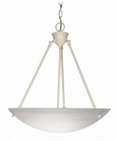 Nuvo Lighting 60/373 3 Light 23 inch Pendant Alabaster Glass Bowl