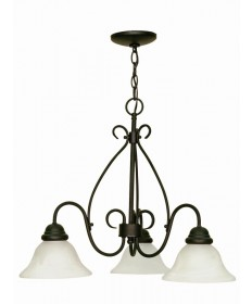 Nuvo 60/378 Castillo 3 Light 26 inch Chandelier Alabaster Swirl