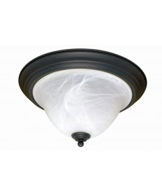 Nuvo Lighting 60/383 Castillo 2 Light 16 inch Flush Mount with Alabaster Swirl Glass