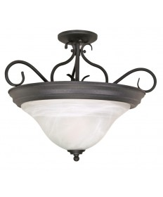 Nuvo Lighting 60/384 Castillo 3 Light 19 inch Semi-Flush with Alabaster Swirl Glass