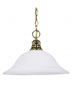 Nuvo Lighting 60/392 1 Light 16 inch Pendant Alabaster Glass