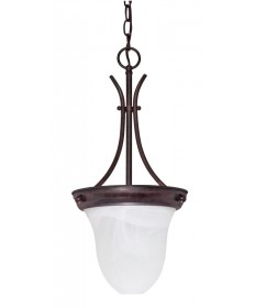 Nuvo Lighting 60/395 1 Light 10 inch Pendant Alabaster Glass Bell