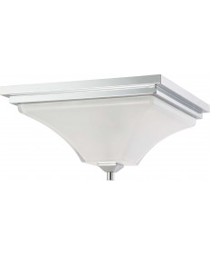 Nuvo Lighting 60/4006 Parker 2 Light Flush Fixture with Sandstone Etched Glass