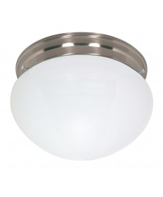 Nuvo Lighting 60/406 2 Light Cfl 12 inch Large White Mushroom (2) 18W GU24 Lamps Included