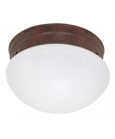 Nuvo Lighting 60/407 2 Light Cfl 10 inch Medium White Mushroom (2) 13W GU24 Lamps Included