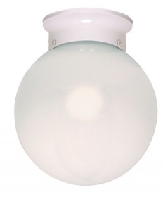 Nuvo Lighting 60/430 1 Light Cfl 8 inch Flush Mount White Ball (1) 13W GU24 Lamp Included