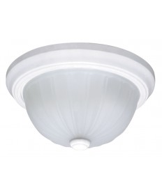Nuvo Lighting 60/443 2 Light Cfl 11 inch Flush Mount Frosted Melon Glass (2) 13W GU24 Lamps Included