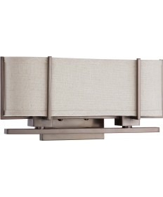 Nuvo Lighting 60/4454 Portia 2 Light Sconce with Khaki Fabric Shade